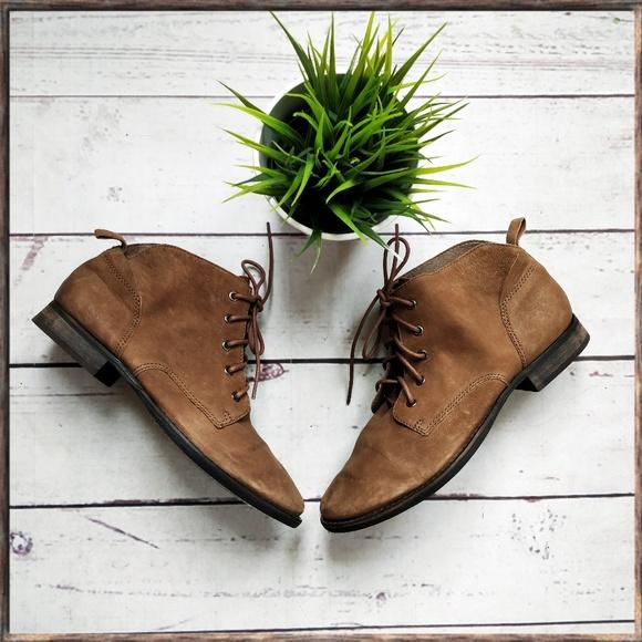 839d1b51e2f21 Sam Edelman Shoes - NWOT SAM EDELMAN Mare Lace-Up Booties Brown 9.5